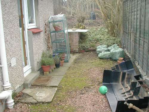 Dreghorn Garden Side - Before